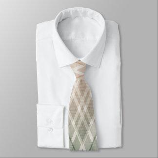 Argyle cambiado verde amelocotonado corbatas