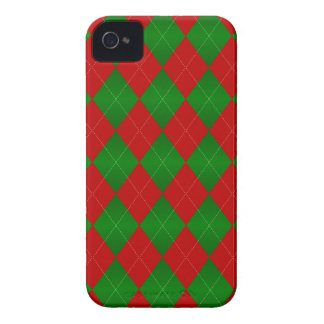 Argyle Christmas, Red-Green iPhone 4/4s Cases