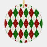 Argyle Christmas Tree Ornament