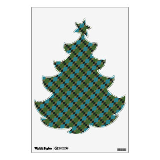 Argyle Christmas Tree Wall Decals