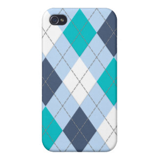 "Argyle: Code Name ""Eclectic Blue"" iPhone case iPhone 4 Covers"