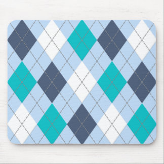 """Argyle: Code Name """"Eclectic Blue"""" Mouse Pad"""