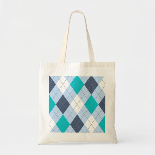 """Argyle: Code Name """"Eclectic Blue"""" tote bag"""