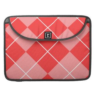 Argyle color de rosa y rosado fundas para macbook pro