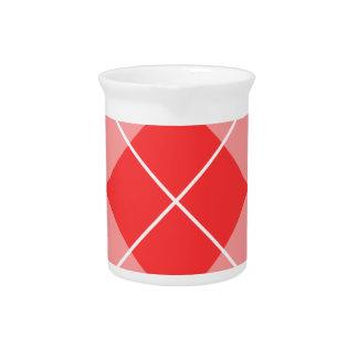 Argyle color de rosa y rosado jarra de beber