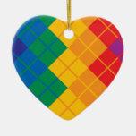 Argyle Color Spectrum Ornaments