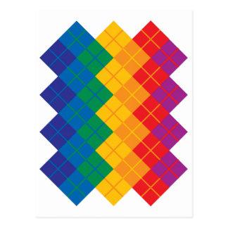 Argyle Color Spectrum Postcard