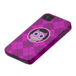 argyle con el búho iPhone 4 Case-Mate cárcasa