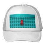 Argyle conocido personalizado de la turquesa del gorras