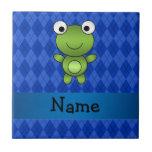 Argyle conocido personalizado del azul de la rana azulejo ceramica