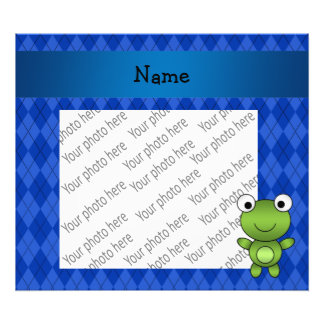 Argyle conocido personalizado del azul de la rana fotografía