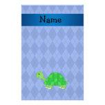 Argyle conocido personalizado del azul de la tortu  papeleria de diseño