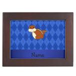 Argyle conocido personalizado del azul del caja de recuerdos