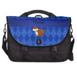 Argyle conocido personalizado del azul del chipmun bolsas para portátil
