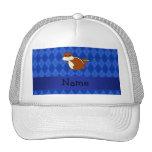 Argyle conocido personalizado del azul del chipmun gorro