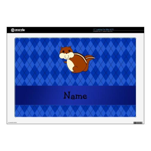Argyle conocido personalizado del azul del chipmun portátil skin