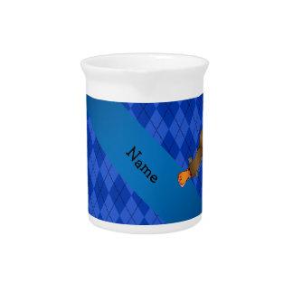 Argyle conocido personalizado del azul del jarra