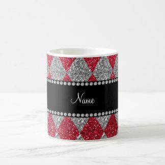 Argyle conocido personalizado del brillo del rojo  taza