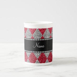 Argyle conocido personalizado del brillo del rojo  taza de porcelana