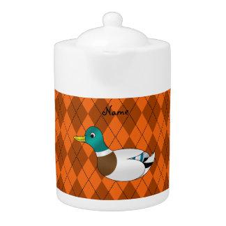 Argyle conocido personalizado del naranja del pato
