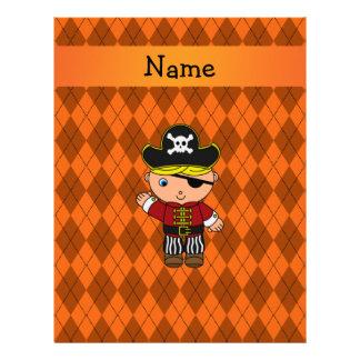 Argyle conocido personalizado del naranja del pira plantillas de membrete