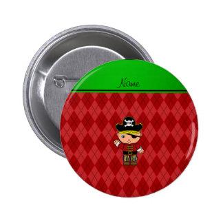 Argyle conocido personalizado del rojo del pirata