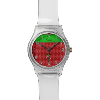 Argyle conocido personalizado del rojo del pirata reloj