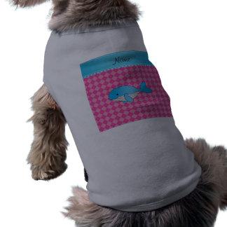 Argyle conocido personalizado del rosa de la playera sin mangas para perro