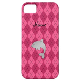 Argyle conocido personalizado del rosa del delfín funda para iPhone SE/5/5s