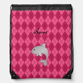 Argyle conocido personalizado del rosa del delfín mochilas