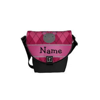 Argyle conocido personalizado del rosa del ratón bolsa de mensajeria