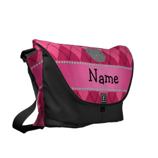 Argyle conocido personalizado del rosa del ratón bolsas de mensajeria