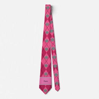 Argyle conocido personalizado del rosa del ratón corbatas