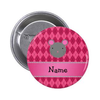 Argyle conocido personalizado del rosa del ratón pin