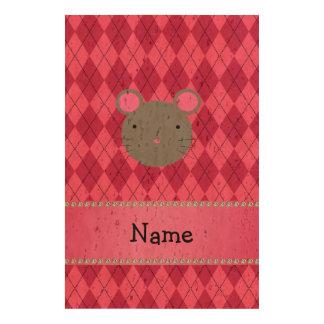 Argyle conocido personalizado del rosa del ratón papel de corcho para fotos