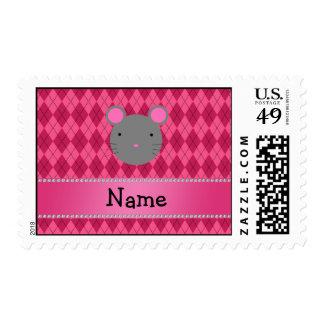 Argyle conocido personalizado del rosa del ratón sello