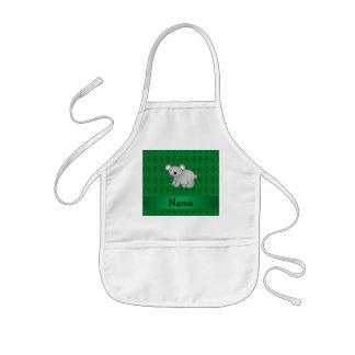 Argyle conocido personalizado del verde del oso de delantal