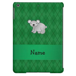 Argyle conocido personalizado del verde del oso de funda para iPad air
