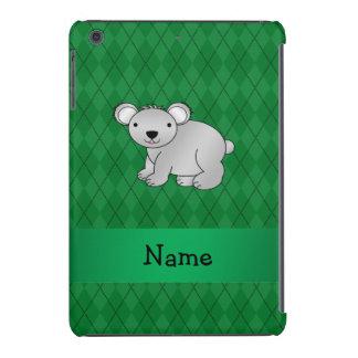 Argyle conocido personalizado del verde del oso de funda para iPad mini retina