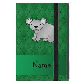 Argyle conocido personalizado del verde del oso de iPad mini cárcasas