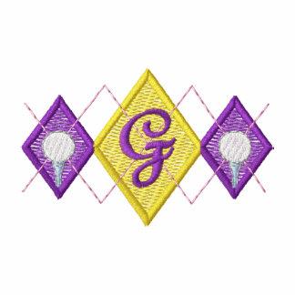 Argyle Crest Embroidered Polo Shirt