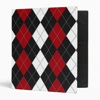 "Argyle: ""Crimson Contrast"" binder"