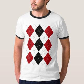 "Argyle: ""Crimson Contrast"" shirt (light)"