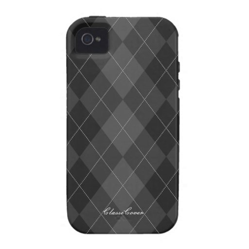 Argyle Dark Gray Case Mate iPhone 4/4S Covers