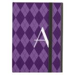 Argyle de la púrpura del monograma
