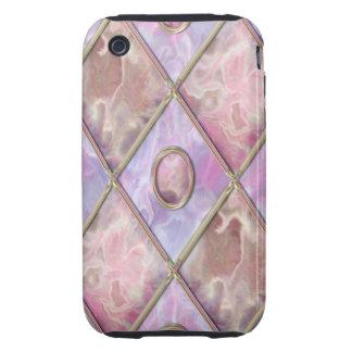 Argyle de mármol y de cristal iPhone 3 tough protector