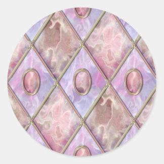 Argyle de mármol y de cristal pegatina redonda