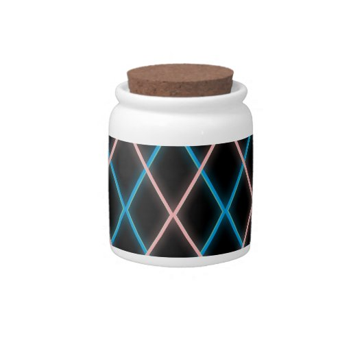 Argyle de neón tarro de cerámica para dulces