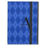 Argyle del azul del monograma