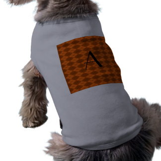 Argyle del naranja del monograma camiseta sin mangas para perro